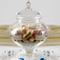 AD TREND Ampolla alzatina per confettata Porta Confetti in Vetro Trasparente e Coperchio i...