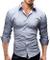 Merish Camicia Uomo, Disegno Speciale, a Scacchi, Slim Fit 5 Colori Taglia S - XXL Modell...