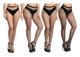 Yulaixuan Calze a rete calze donna calze a rete piccola maglia media maglia larga e rete x...