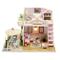 HNCS Casa delle Bambole in Legno di Design Fai-da-Te,Miniatura di Mobili A Mano Creativa i...