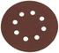 Silverline 382903 Dischi Forati a Fissaggio Strappo, 125 mm, 10 PK, Grana 120