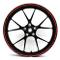 Finest Folia - Adesivi per cerchioni in design GP, 16 pezzi, set completo, adatto per cerc...