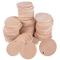 (Dia. 3.5cm) 100pz Dischi Legno Naturale Rotonda Fette con Foro Decorazioni per Scrapbooki...