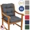 Beautissu Cuscino per sedie da Giardino Flair NL100x50x8cm - Comoda e soffice Imbottitura...