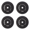 POWRX - Dischi Pesi ghisa 20 kg Set (4 x 5 kg) - Ideali per manubri e bilancieri con Bracc...