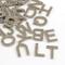 DanLingJewelry - Ciondoli a forma di lettere dell'alfabeto dalla A alla Z, in acciaio INOX...