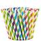 Comfy Package Cannucce di Carta [Confezione da 200] 100% biodegradabile - Colori Assortiti