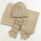 SGSDSet Di Guanti Sciarpa Sciarpa A Tre Pezzi Cappello Classico Twist Caldo
