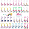 Yunfan 40 Pezzi Portachiavi Unicorn in plastica Design Keychain,Portachiavi Simpatici Kit...