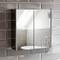 Bath Vida - Armadietto da bagno a 2 ante in acciaio inossidabile, con chiusura magnetica
