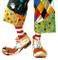 WIDMANN Scarpe Clown In Lattice Scarpe, Calze E Leggins Party Carnevale 972