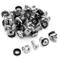 deleyCON 20x Set di Viti con Gabbia M6 per Armadi di Rete Rack Patch Panel e Armadi di Ser...