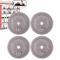 POWRX - Dischi Pesi ghisa 20 kg Set (4 x 5 kg) - per manubri e bilancieri con Braccio da 3...