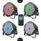 4PC Faro LED PAR per illuminazione palco, per Party Discoteca DJ 36LEDs 36W 3 in 1 [Classe...