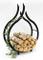 DanDiBo, portalegna da interno di colore nero, a forma di fiamma, da 78cm, scaffale da ca...