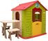LittleTom Casetta Gioco per Bambini e Bambine incl 1 Tavolo 2 sgabelli casa di plastica pe...