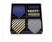 HISDERN Lotto 3 PCS Classico Elegante Seta da uomo Tie Set Cravatta & Pocket Square-Set mu...
