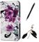 Cover Huawei P Smart, Beaulife Custodia a Libro Portafoglio in PU con Stampa Colorata PU P...