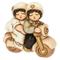 THUN® - Coppia di Sposini Piccoli su Moto - Regalo o Bomboniere di Matrimonio - Ceramica -...