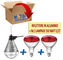 Motisi Zootecnici Nr.2 Lampade da 150 Watt ad infrarossi + Nr.1 riflettore portalampada in...