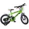 """Dino Bikes Kinderfahrrad, Bicicletta da Bambino, 16"""", Colore: Verde, 16 Inch"""