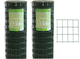 RETE Zincata finitura PVC PAPILLON elettrosaldata 76X63 H125 25MT PLASTICATA SGS