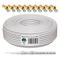 HB-Digital-Cavo coassiale per DVB-S, DVB-S2 C e DVB-T (130 dB, HQ-135, Pro, lunghezza, BK,...