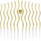 48 Pezzi Candele a Spirale di Compleanno Candele di Torta con Supporti Metallici Candele L...