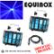 2 x Equinox Interceptor MKII 2 x 10W CREE Multi Color LED & DMX Pacchetto
