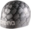 Arena Poolish Moulded Cap - Silver Fish