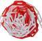Catena in plastica da 5 m, colore: rosso/bianco