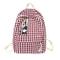 Element, Canvas Borsa Da Donna Plaid Casual Bag Per Studenti All'Aperto