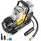 AstroAI Compressore Auto 12 V Aria Portatile Professionale con LED, Manometro Digitale, Sc...