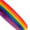 Rotolo di fettuccia in polipropilene, 25mm, arcobaleno, cinghia da max 440kg, 5 m