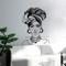 supmsds Art Woman Head Turban Adesivi murali Moda Viso Tatuaggi Divano Sfondo Adesivo mura...