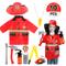 vamei 10 Pezzi Il Pompiere Bambino Cappello Carnevale Casco Pompiere Halloween e Assessori...