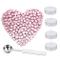 200 bastoncini ottagonali di ceralacca con scatola + 4 candele da tè + 1 cucchiaio per cer...