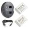 Newmowa NB-13L Batteria (confezione da 2) e Doppio Caricatore USB per Canon NB-13L, Canon...