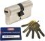 ABUS EC660 cheerio-cilindro Lunghezza (a/B) 35/45 mm (C=80mm) con 6 chiavi, carte di credi...