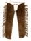 Westernwear - Chaps in Pelle Naturale con Frange, Colore: Marrone, Marrone, XXL