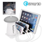 Tempo USB Charging Station, Multi 5-Ports Charging Dock Desktop Charging Stand with QC3.0...