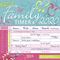 Family Timer - Floral 2020