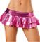 Flydo Donne Sexy Lingerie Mini Gonna Clubwear Lucido Ruffle Skirt Gonna a Pieghe Bagnato S...