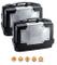 KAPPA - KGR33PACK2 GARDA coppia di valigie MONOKEY nere con cover alluminio laterali 33 li...