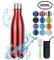 flintronic Portatile Borraccia in Acciaio Inox, Termica Bottiglia d'Acqua Sportive 500ml p...