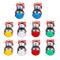 EG STARTS 10x Pulsanti cromati LED con microinterruttore di interfaccia 4.8mm per Videogio...