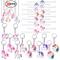 Konsait Unicorno portachiavi keychain (12pezzi) Braccialetti slap Unicorno gomma bracciale...