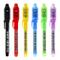 Maleden, penna a inchiostro invisibile, penna spia con luce UV, evidenziatore magico per b...
