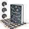 Logbuch-Verlag - Ricettario da scrivere a piacere, formato DIN A5, libro vuoto nero e bian...