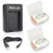 Newmowa NP-BX1 Batteria (confezione da 2) e Doppio Caricatore USB per Sony NP-BX1 / M8 e S...